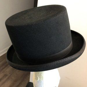 SHANNON PHILLIPS Med 100% Wool Top Hat Ex Cond